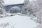 French King Bridge at Confluence of Millers and Connecticut Rivers in Winter, Erving and Gill, MA