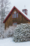 Natural Wood Barn after Snowstorm, Fitzwilliam, NH