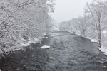 Millers River during Snowstorm, Erving and Wendell State Forests, Erving and Wendell, MA