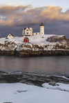 Sunset at Nubble Light, (Cape Neddick Lighthouse), Cape Neddick, York, ME