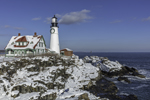 Portland Head Light in Winter, Fort Williams Park, Cape Elizabeth, ME