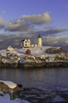 Late Evening Light Shines at Nubble Light, (Cape Neddick Lighthouse), Cape Neddick, York, ME