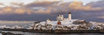 Sunset at Nubble Light, (Cape Neddick Lighthouse), Cape Neddick, York, ME