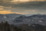 White Mountains and White Mountain National Forest at Sunset, View from Jackson, NH