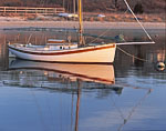 Gaff Rigged Sailboat at Mooring, Vineyard Haven Harbor