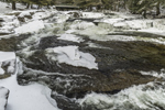 Jackson Falls on Wildcat Brook in Winter, White Mountains Region, Jackson, NH