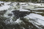 Jackson Falls on Wildcat Brook in Winter, White Mountains Region, Jackson, NH