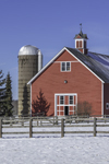 Big Red Barn and Silo at Crossen Farm, Built 1899, Coventry, CT