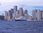 Boston Tour Boat and Boston Waterfront