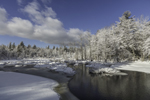 Pond Brook in Winter after Fresh Snowfall, Fitzwilliam, NH
