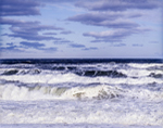 Gale Force Winds and High Surf at Sandwich Town Beach, Cape Cod Bay, Cape Cod, Sandwich, MA