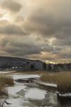 Freshwater Marsh in Winter on Konkapot Brook at Sunrise, Berkshire Mountains, Stockbridge, MA