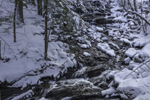 Waterfalls on Tributary of Long Pond Brook after Fresh Snowfall, Sharon, CT