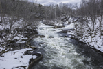 Waterfalls on Housatonic River in Winter, Village of South Kent, Kent, CT
