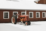McCormick Farmall International Harvester Model H Tractor and Red Barn in Winter, Hamlet of Dover Plains, Dover, NY