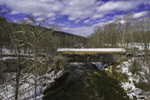 Bull's Covered Bridge over Housatonic River, Village of South Kent, Kent, CT