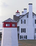 Model Lighthouse with West Dennis (Bass River) Lighthouse in Background, Cape Cod