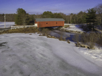 1789 Carlton Bridge in Winter, Rebuilt 1869 (#7), South Branch Ashuelot River, Swanzey, NH