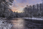 Sunrise on the Millers River in Winter, near Bearsden Conservation Area, Athol, MA