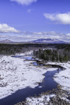 Scott Brook in Winter with Mount Monadnock and Gap Mountain in Distance, View from Fitzwilliam, NH