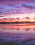 Clouds Reflecting in Forked Lake at Sunrise, High Peaks Area, Adirondack Park, Long Lake, NY