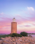Avery Point Lighthouse at Sunset, University of Connecticut at Avery Point, Groton, CT