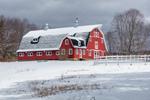 Big Red Barn after Fresh Snowfall, Brimfield, MA