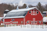 Big Red Barn on Bee-Sheep Farm after Fresh Snowfall, Stafford Springs, CT