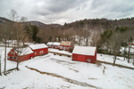 Red Barns along Green River, Guilford, VT