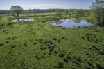 Aerial View of Pastures, Fields, and Small Ponds on Farm in Early Spring, North Stonington, CT