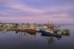 Commercial Fishing Fleet in Stonington Harbor at Sunset, Stonington, CT