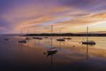 Sailboats in Stonington Harbor at Sunset, Stonington, CT