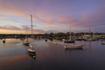 Sailboats in Stonington Harbor at Sunset, Stonington, CT
