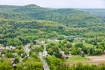 Toby Ridge, Bull Hill and Town of Sunderland in Spring, View from Mount Sugarloaf, South Deerfield, MA