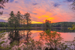Colorful Sunrise at Harvard Pond, Petersham, MA