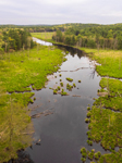 Aerial View of West Branch Ware River in Spring, Hubbardston State Forest, Hubbardston, MA