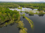 Aerial View of Contoocook River in Spring, Hancock and Greenfield, NH