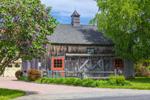Natural Wood Barn with Cupola at Meri Mac Farm, Duchess County, Amenia, NY