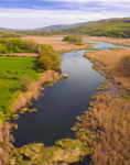 Aerial View of Webatuck Creek and Wetlands in Spring, Village of Millerton, Town of North East, NY