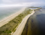Aerial View of Napatree Point, Napatree Point Conservation Area, Village of Watch Hill, Westerly, RI