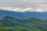 Early Morning Clouds Cover Peaks of Mount Washington and White Mountains in Spring, White Mountains Region, View from Jackson, NH