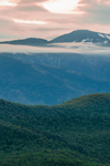 Late Evening Light on Mount Washington and White Mountains in Spring, White Mountains Region, View from Jackson, NH