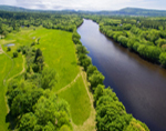 Aerial View of Androscoggin River, Hanover, ME