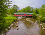 Jackson Village Covered Bridge at Wentworth Golf Club in Spring, White Mountains Region, Jackson, NH