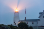 Pemaquid Point Lighthouse in Fog at Dawn, Pemaquid Point, New Harbor, Town of Bristol, ME