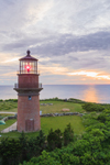 Aerial View of Gay Head Lighthouse at Sunset, Martha's Vineyard, Aquinnah, MA