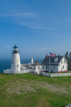Aerial View of Pemaquid Point Lighthouse in Early Evening Light, Pemaquid Point, New Harbor, Town of Bristol, ME
