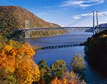 Bear Mountain Bridge and Fall Foliage on the Hudson River