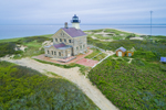 Aerial View of North Light, Block Island, RI