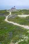 Aerial View of North Light, Block Island, RI